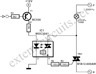 DC Control for Triacs Circuit Diagram