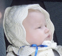 Dåpskjole strikket offwhite