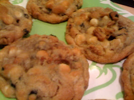 White Chocolate Blueberry Pecan Cookies