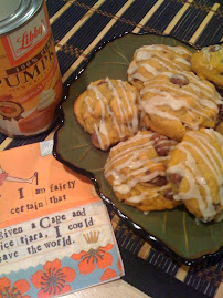 Pumpkin Raisinet Cookies