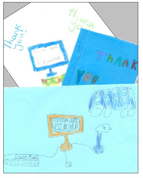 thank you cards for teachers from kids. individual thank you cards
