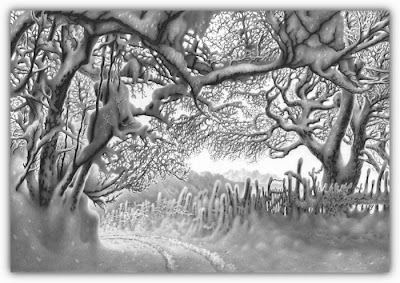 Stunning pencil drawings of winter Seen On www.coolpicturegallery.us