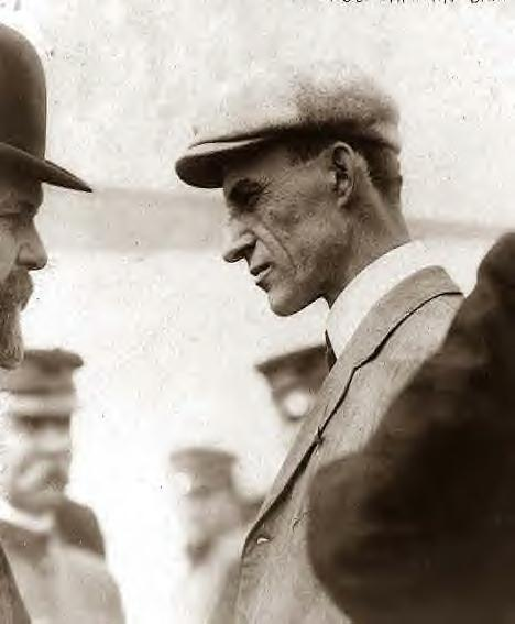 Wilbur Wright after flight 1909