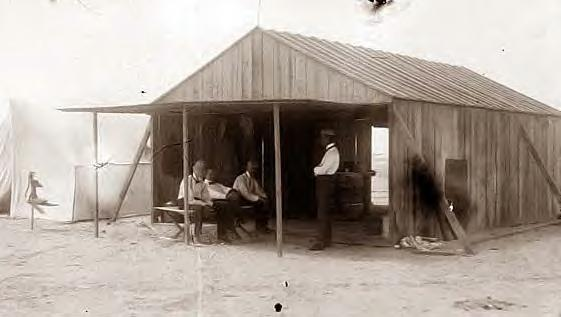 Wright Bros. shed. Kitty Hawk. 1901