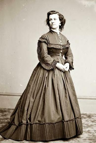 Pauline Cushman photographed at the Brady Studio, Washington, DC, 1865