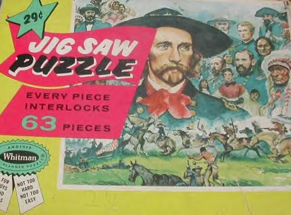 Custer's Last Stand Jig Saw Puzzle, Late 1950s