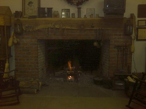 Woodburning Fireplace ~