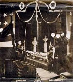 Lincoln in Casket ~
