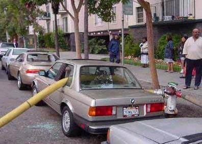 Never park by a fire hydrant