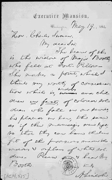 Lincoln letter, 1864 ~
