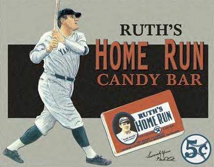 Babe Ruth Advertising of the times ~