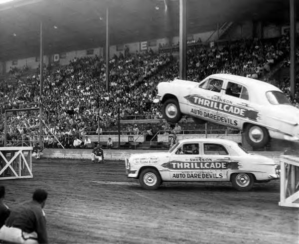 Car Jumping. 1950s