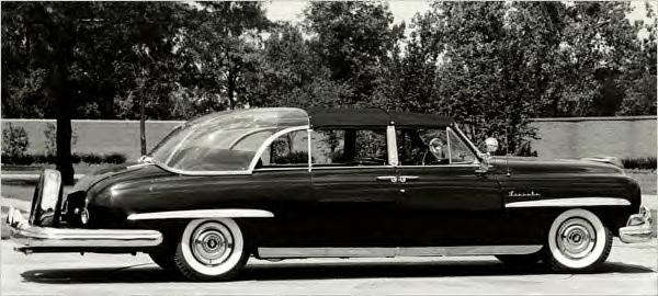 Ike's official Presidential Limo--a 1950 'bubble top' Lincoln Cosmopolitan