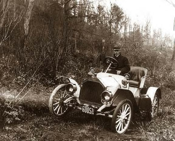 Buick on Corduroy Road to Oregon, 1909, Photo-1