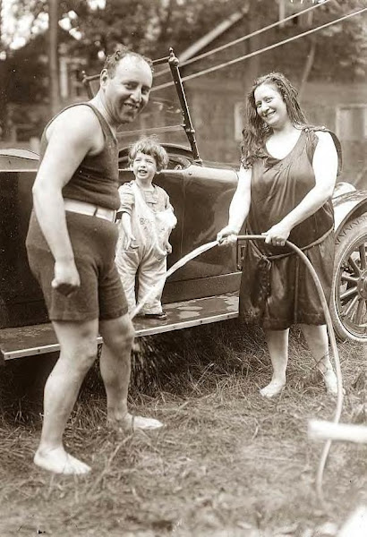 Fields family washing car