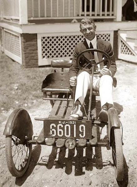 Byron in his little car, 1921. Photo-1