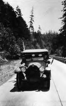 Henry Gunning in his car, 1928