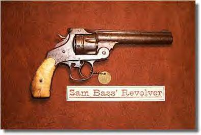 Revolver that once belonged to Western badman, Sam Bass
