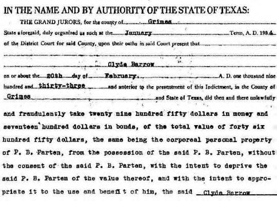 Clyde Barrow Indictment-2