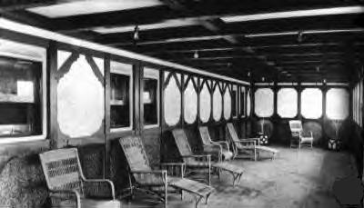 Two only known genuine views of one of the two Titanic's Parlor Suite Promenades
