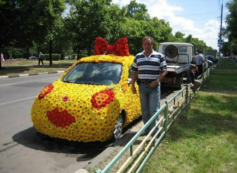 Dose this guy look like he goes with this daisy car?