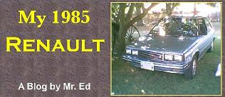 Click picture for my 1985 Renault blog