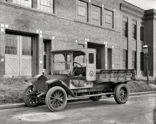 Washington, D.C., 1920. Overman Cushion Tire Co., creamery truck