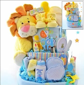 party frosting pastel safari baby shower theme