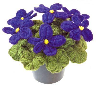 aycicek flower 4 2 Örgüden çiçek yapımı
