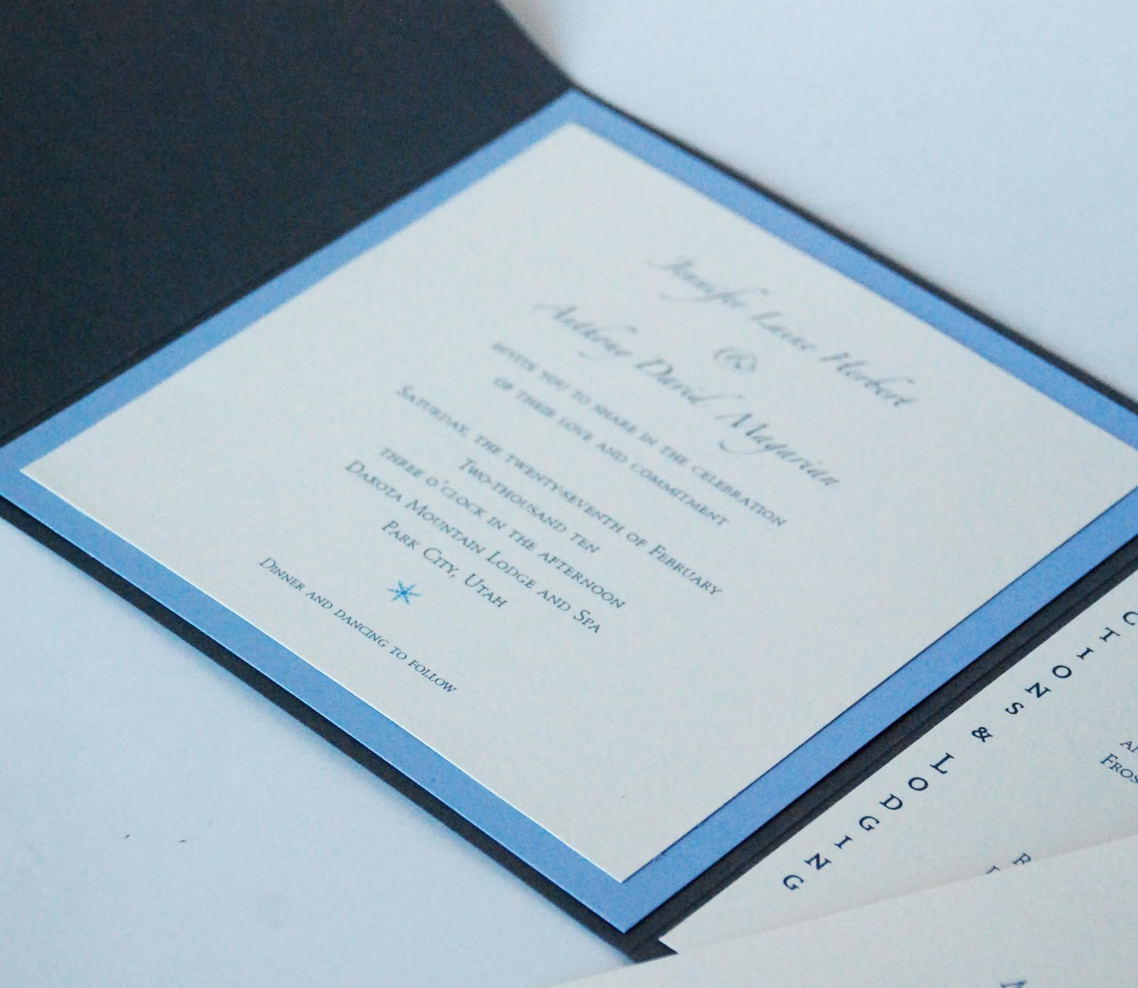 Crescent Moon Paper Co Lovely Invitations For Winter