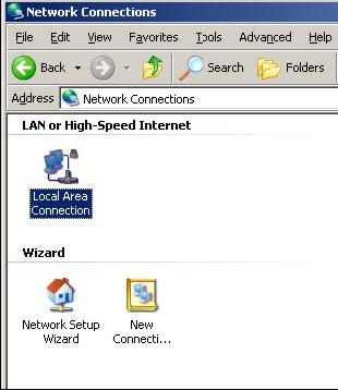 Setelah LAN Connection diklik 2 kali, buka pada tab general dan klik ...