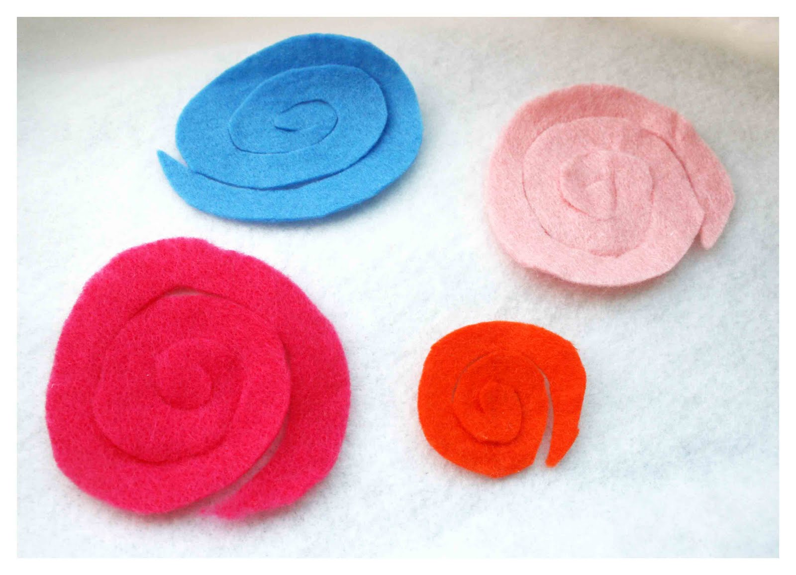 Do More With Less A day out d a spiral felt flower tutorial