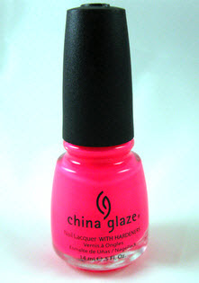 China Glaze Pool Party nail polish picture photo color hot pink nails