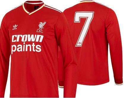 Liverpool Kit 1980 Jersey Liverpool 1980