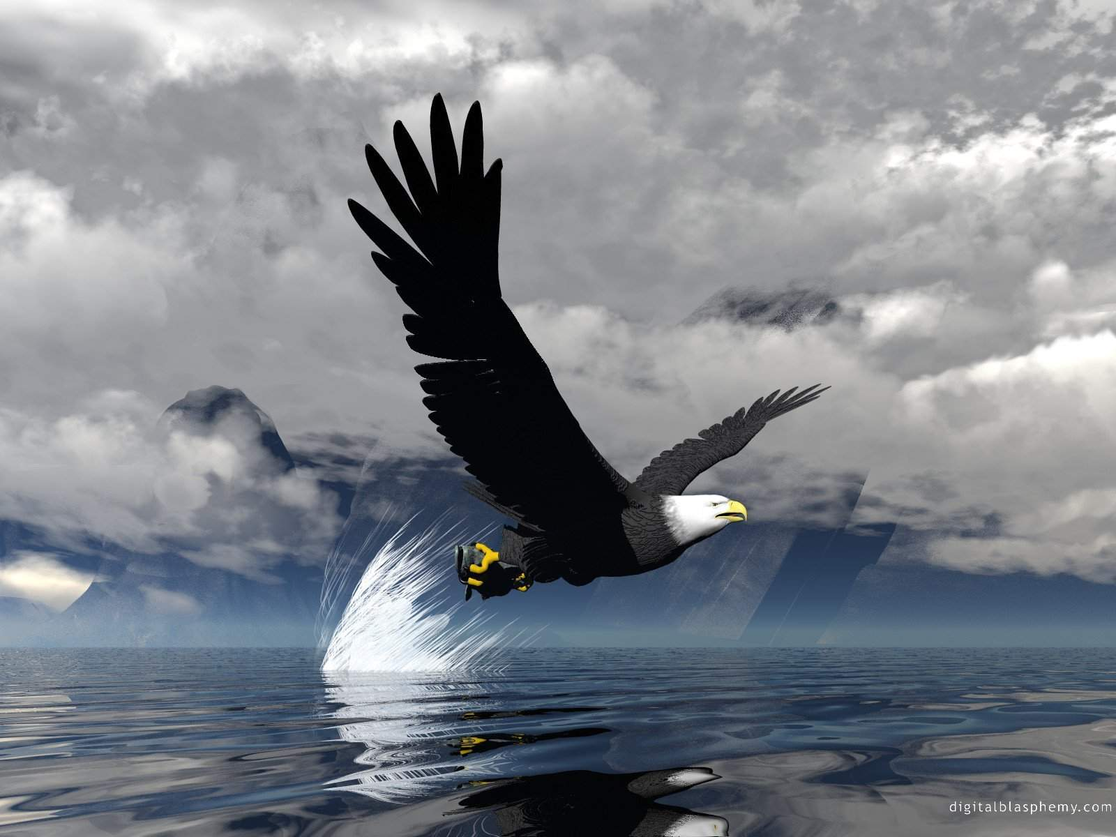 Eagle 3D Animal Wallpaper
