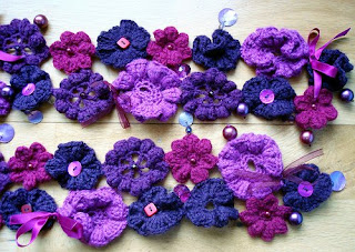 CROCHET FLOWER PATTERN SCARF | Original Patterns
