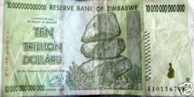 10 triliun dollar Zimbabwe