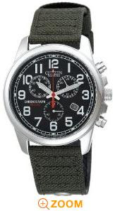  Citizen Eco-Drive Men's Chronograph Canvas Watch #AT0200-05E