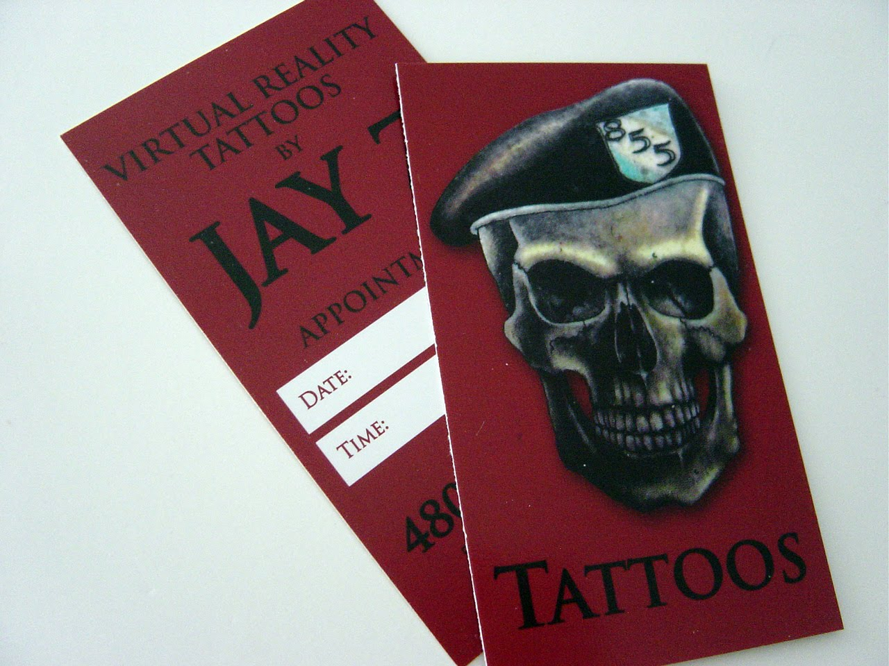 Absolute Edge Design: Tattoo Business Card