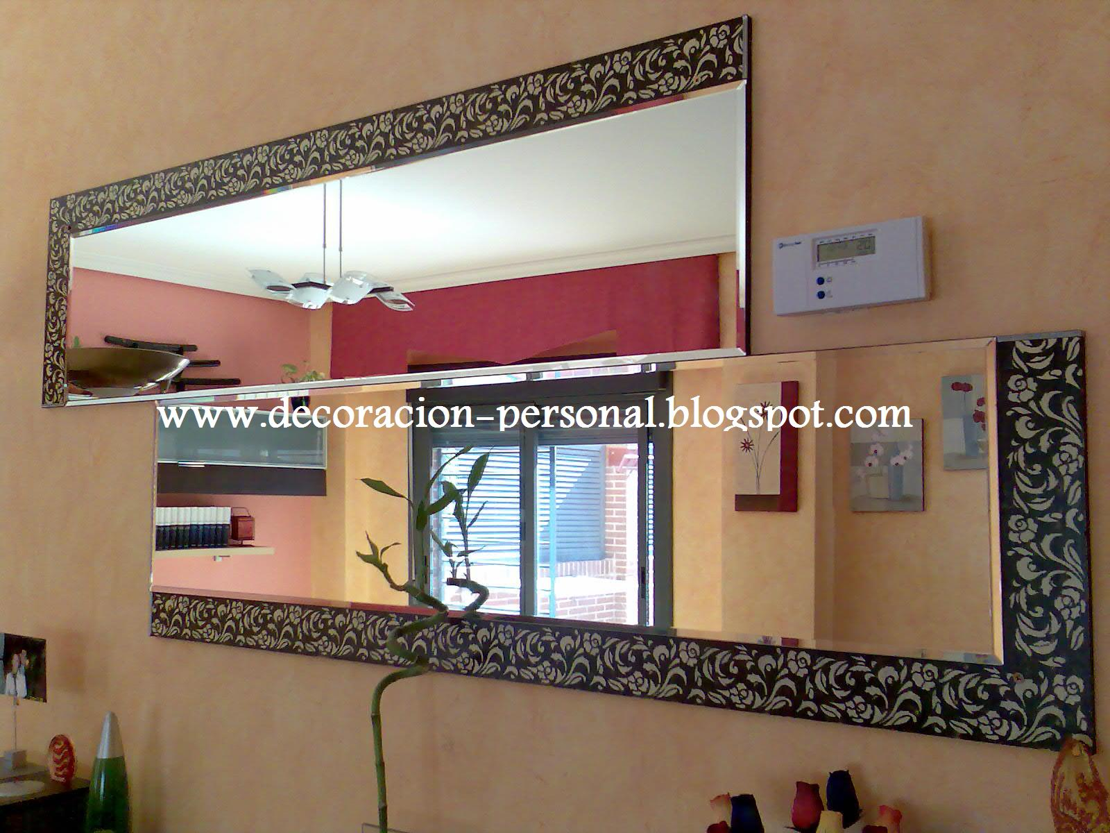 Decoracion personalizada p t espejo con cenefa 1 - Cenefas para espejos ...