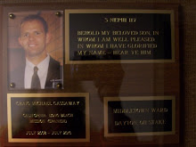 Craig's Mission Plaque...