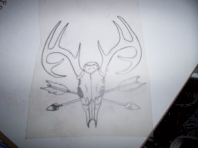 Overallart tattoo style drawing on wax paper for Drawing on wax paper
