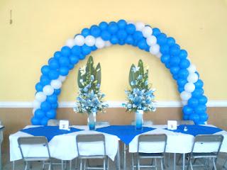 Fotos de decoraciones con globos for Decoracion de licenciatura