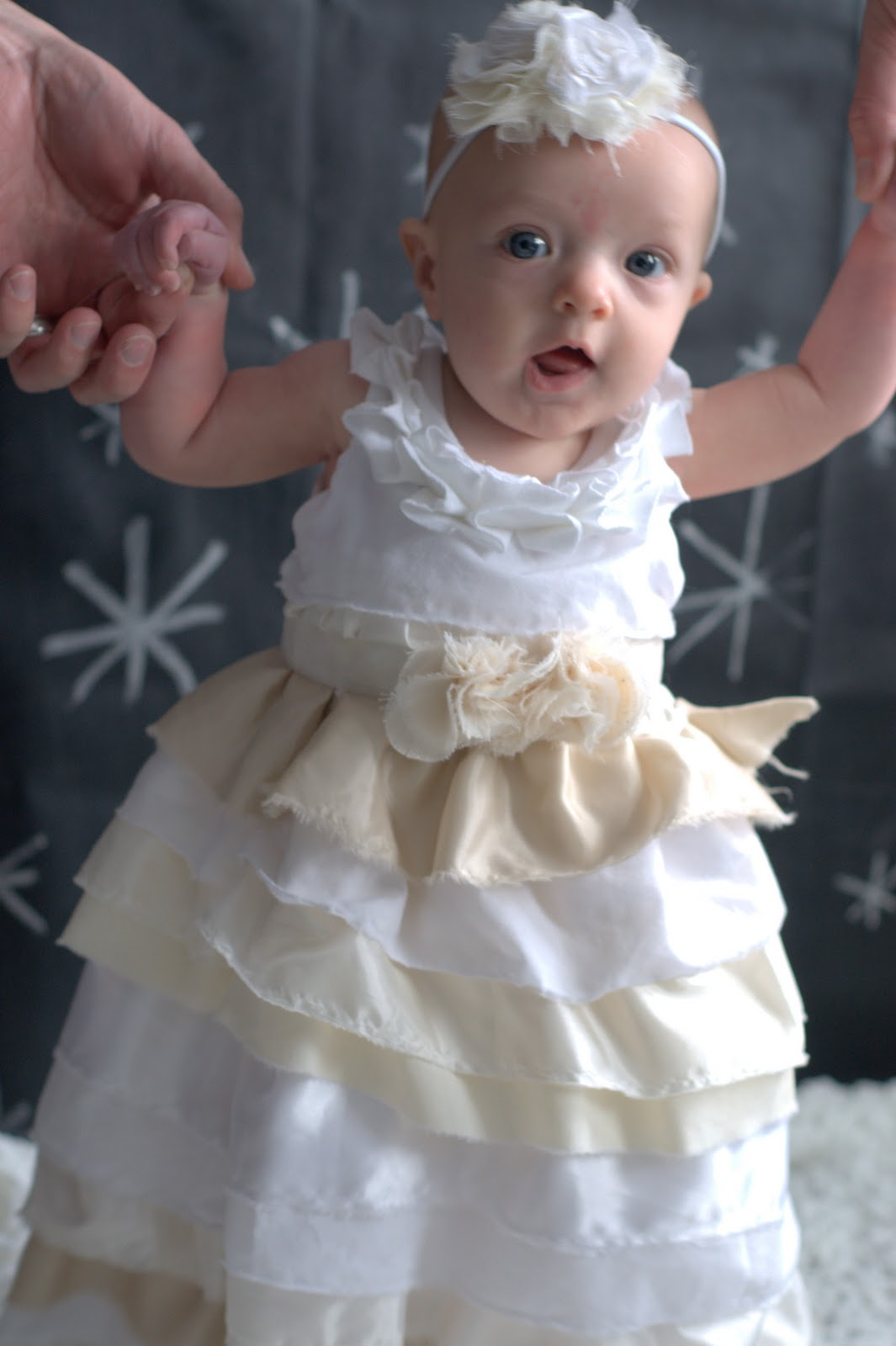 winter wonderland couture ruffle dress