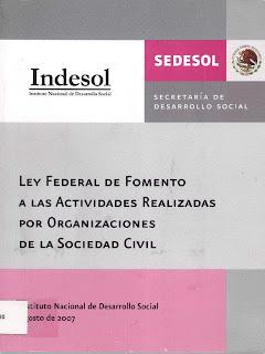 ley federal de fomento a las actividades de las organizaciones: