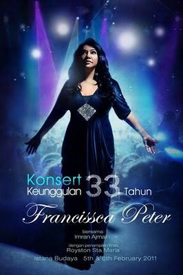 Konsert Keunggulan 33 Tahun Francissca Peter
