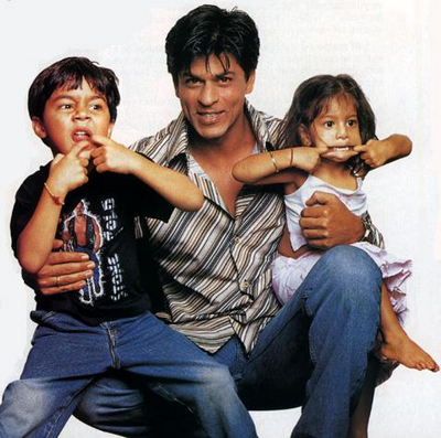 shahrukh with childrens