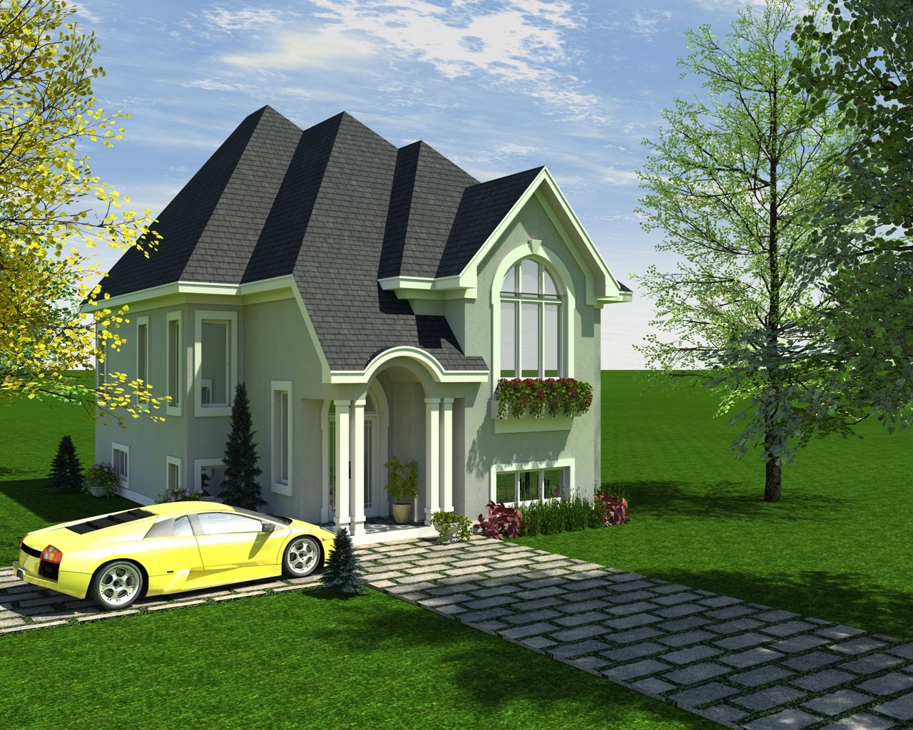 villetta americana : tree villetta television hotelzimmer design 2 477 casa tipo americana ...