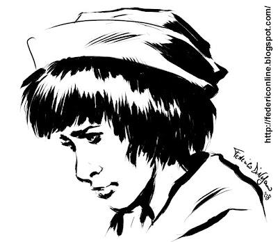 ragazza col cappello