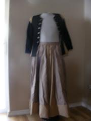 Elizabethan waistcoat and skirt